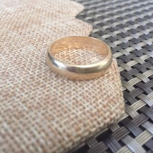 Other - 14K Mens Yellow Gold 6mm Wide Wedding Band Sz 10.5